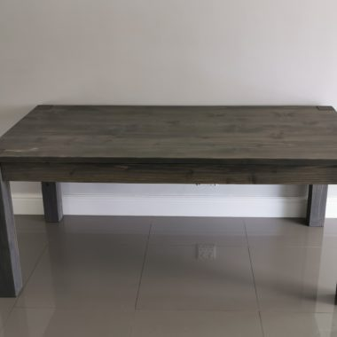 Kendall Storm Grey Dining Room Table and Benches