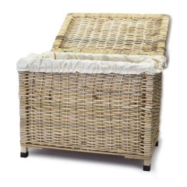 Woven chest laundry basket