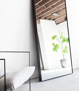 Aluminium Standing Dress Mirror