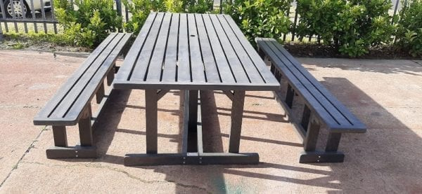 Iris Recycled Plastic table and Benches