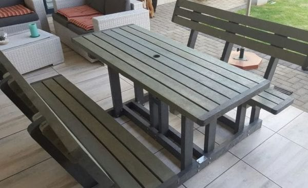 Recycled Plastic Picnic Bench with Back