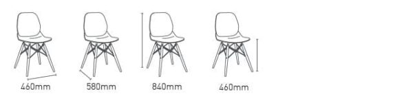 Elle Dining Chair Dimensions