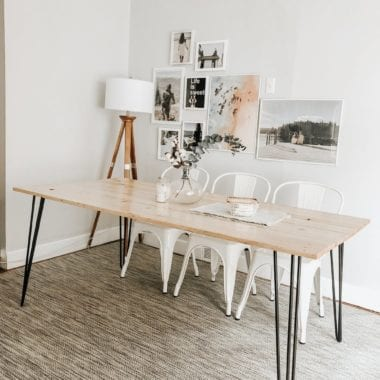 Kenzie hairpin leg dining table