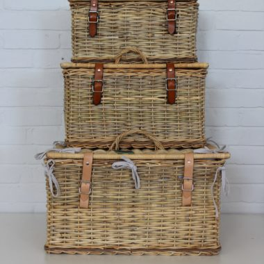 Picnic Basket with Leather Straps