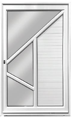 Straight-Panel Aluminium Pivot Door