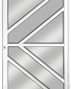 V-Panel Aluminium Pivot Door
