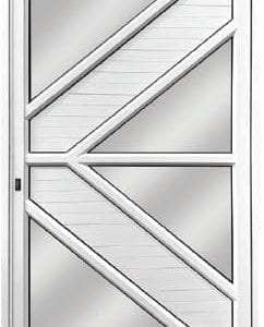Solid V-Panel Aluminium Pivot Door